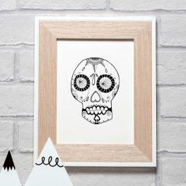Sugar Skull – A5 Unframed Print