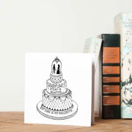 Wedding Cake – Greetings Card
