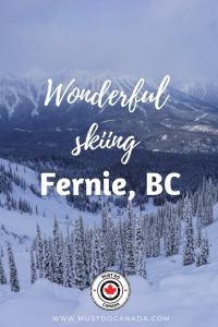 Wonderful Skiing at Fernie, BC