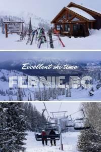 Excellent ski time at Fernie, BC
