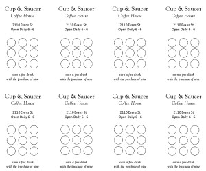 Free Loyalty Card Template Word Images Punch Cards Template - Free punch card template or design