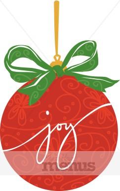 Joy Bulb Clipart Christmas Menu Images
