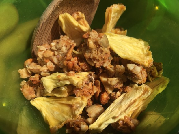 Lime Coconut Pineapple Paleo Granola for you next backpacking trip!