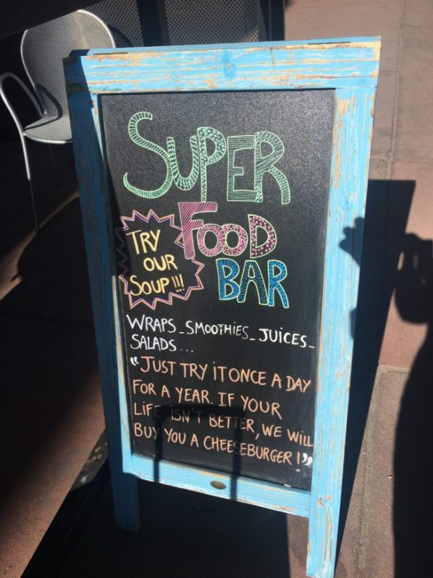 Superfood Bar Downtown Denver Colorado #travel #layover #glutenfree #outdoors