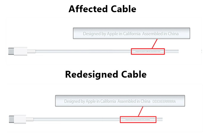 Affected USB-C Charge Cables Replacement Program by Apple