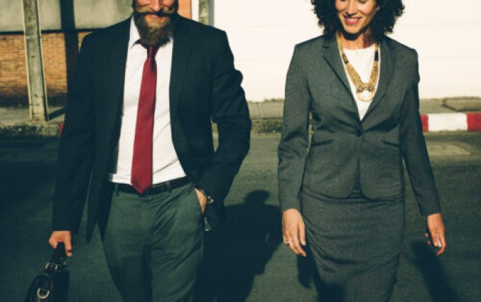 Business people in business attire
