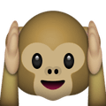Monkey Holding Ears - Snapchat Trophies