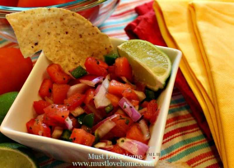 Perfect Pico De Gallo #mexican #texmex #picodegallo #recipe