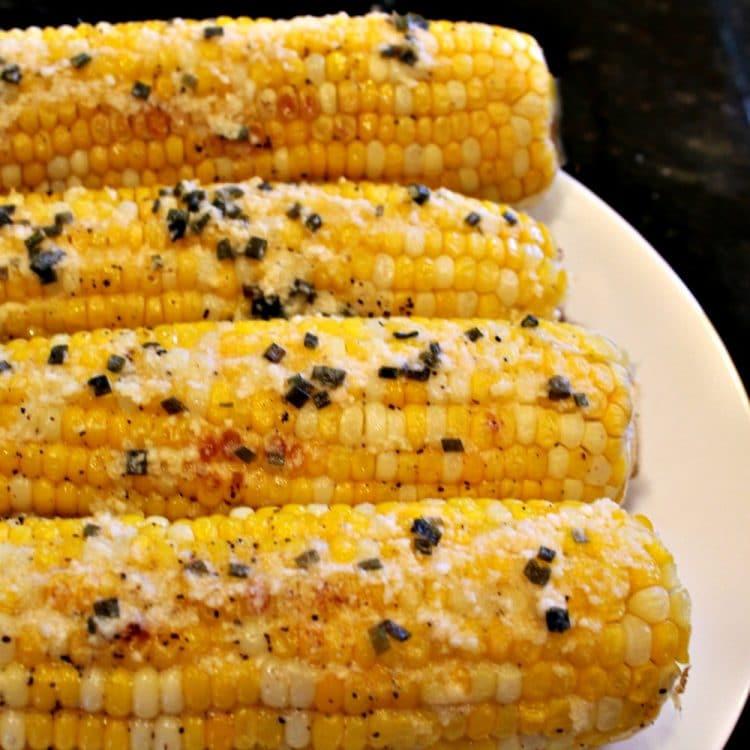 Parmesan Chive Corn on the Cob