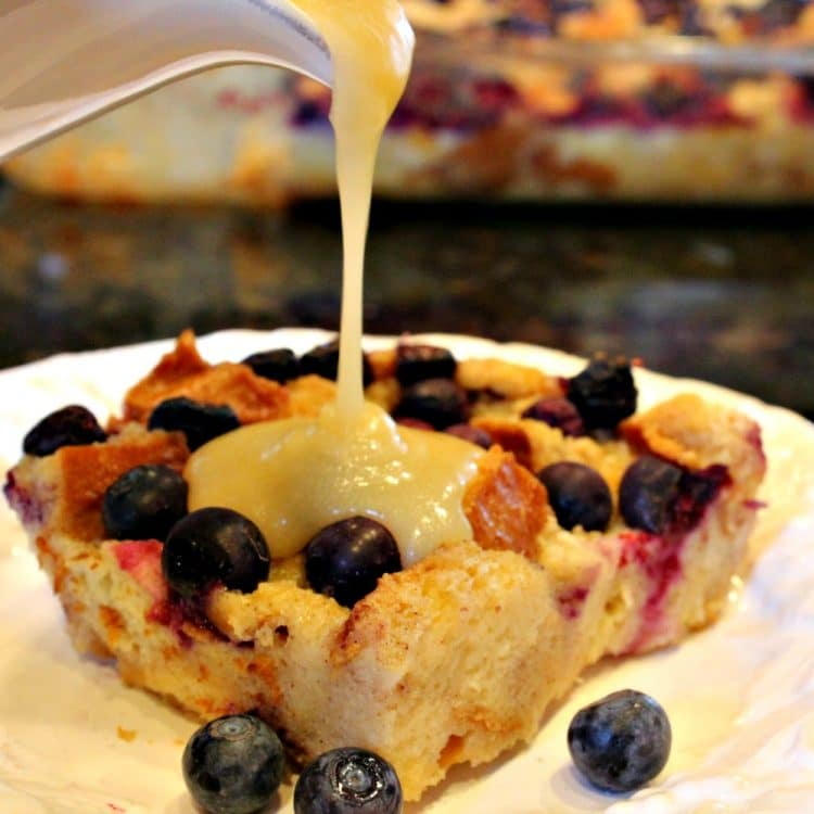Lemon Blueberry Bread Pudding