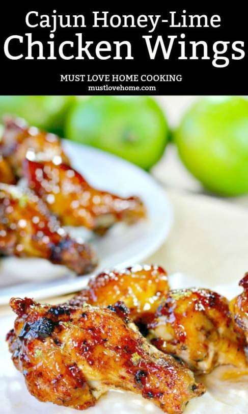 Cajun Honey Lime Chicken Wings may change the way you flavor your wings forever. The wings are oven baked, and basted with an amazing sauce that will make these wings a crowd favorite.