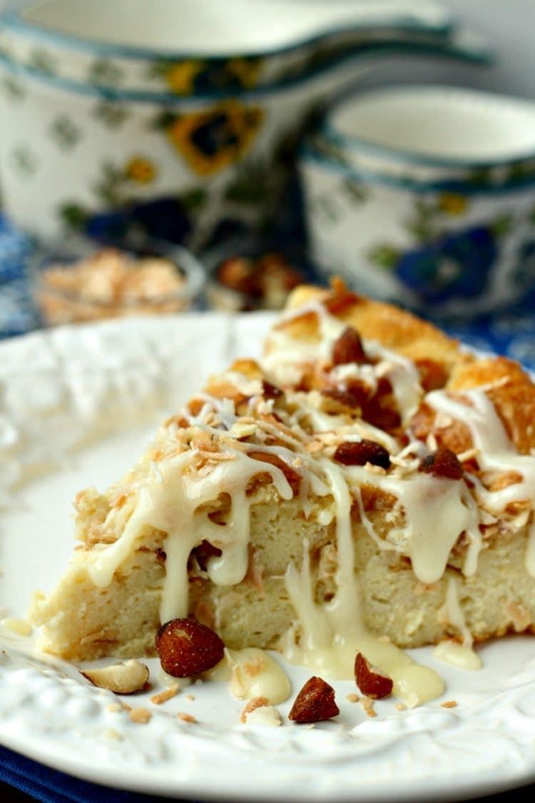 Coconut Almond Bread Pudding