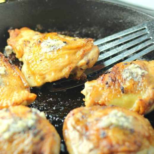 Pan Roasted Chicken Thighs
