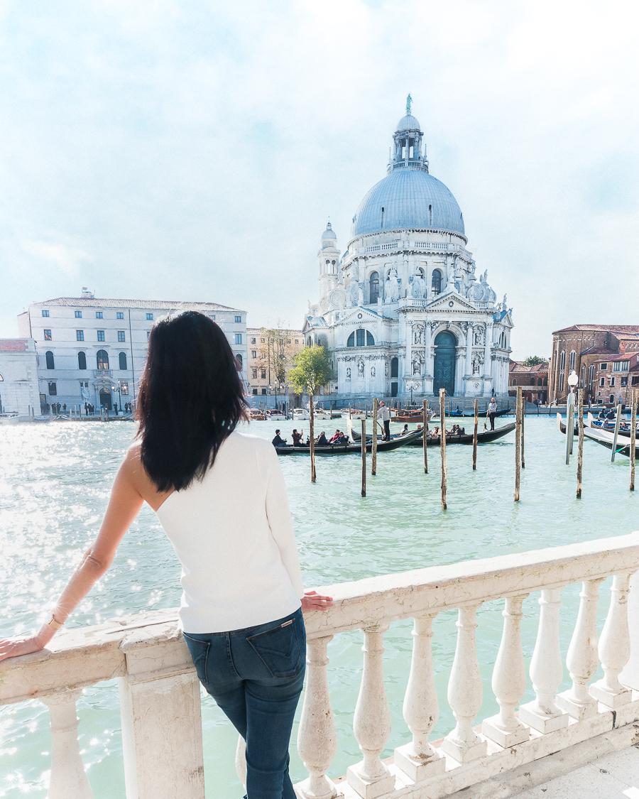 Gondolas in Venice Grand Canal