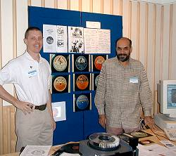 IASA/ARSC conference 'Why Collect'?<br />Sept 2001, British Library, London<br />left: Kurt Naucks, right: Suresh Chandvankar