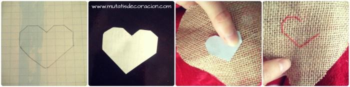 corazón de yute