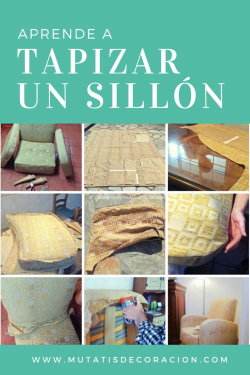 Cómo tapizar un sillón: Tutorial
