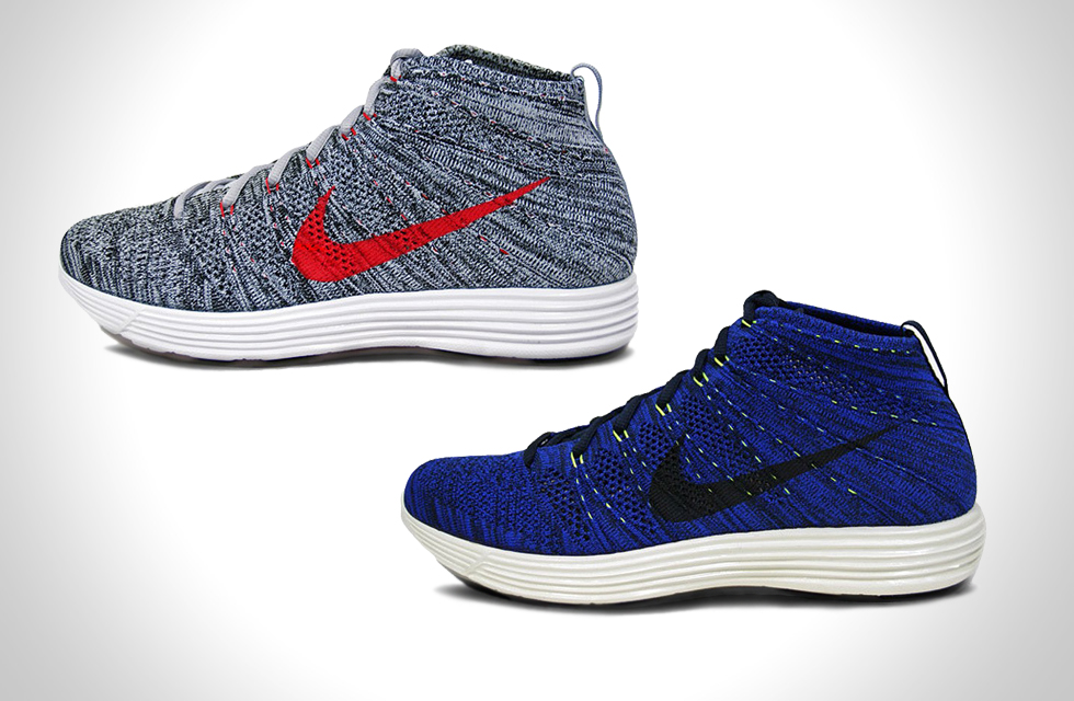 Nike Lunar Flyknit Chukka Dark Obsidian and Wolf Grey