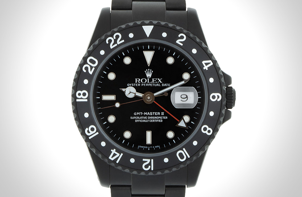BLACK LIMITED EDITION ROLEX GMT MASTER II BY ALEJANDRO ALCOCER