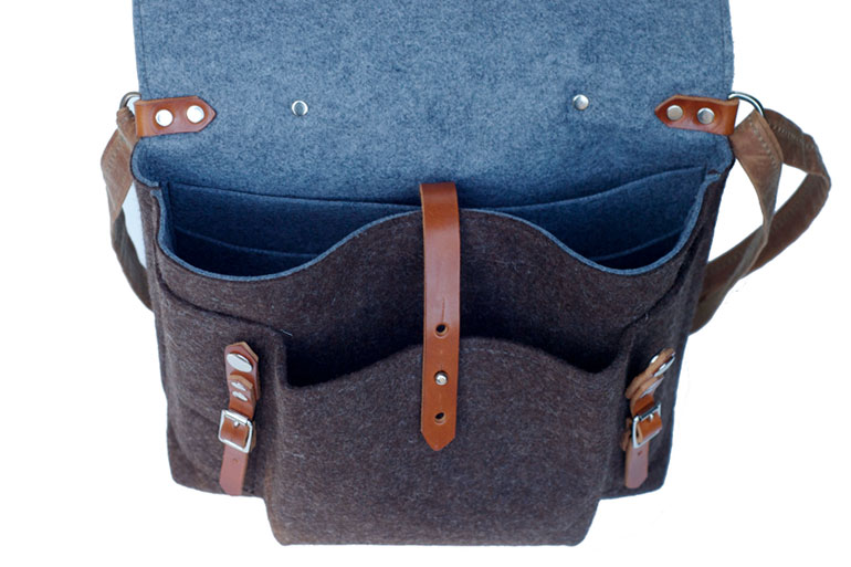 The Commuter Satchel by Sketchbook Crafts Interior