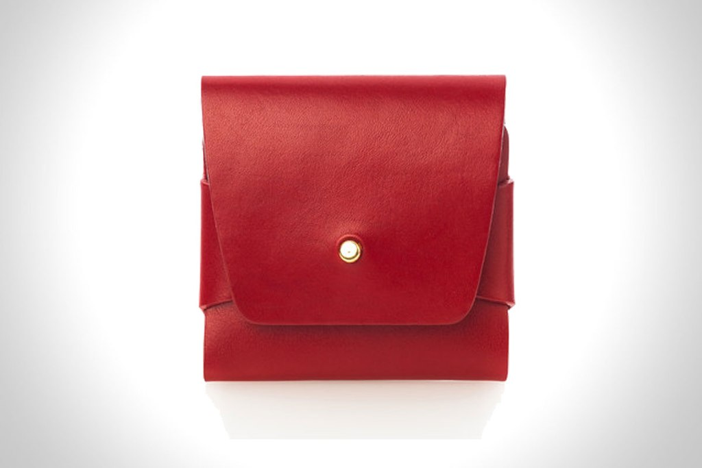 RED STITCHLESS WALLET BY CLEAN EVERYTHING