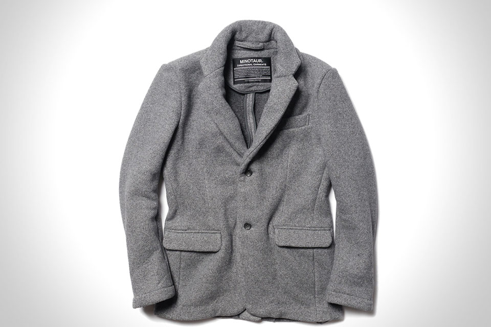 MINOTAUR TWILL FLEECE GATHER 2B JACKET