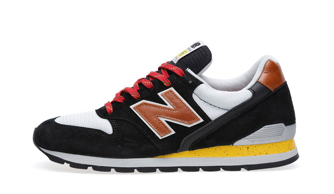 NEW BALANCE M996BS MADE IN THE USA SNEAKERS (BLACK, YELLOW & TAN)