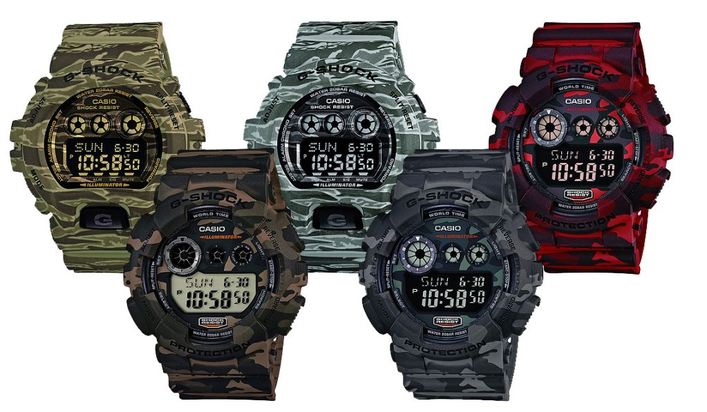 CASIO G-SHOCK CAMO WATCH PACK