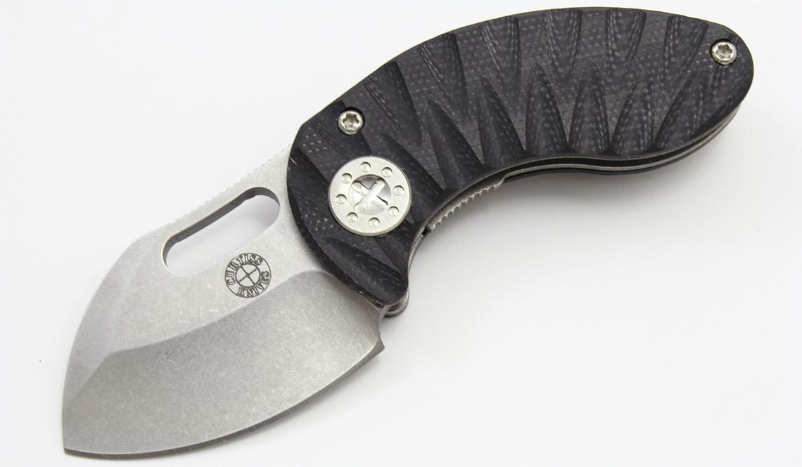 CURTISS KNIVES NANO LINERLOCK BLACK & RED G10