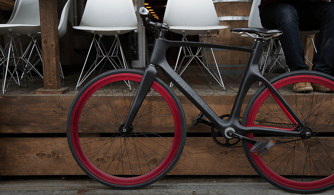 VANHAWKS VALOUR CARBON FIBER BICYCLE INCLUDES SECURITY SENSORS AND PERFORMANCE TRACKING