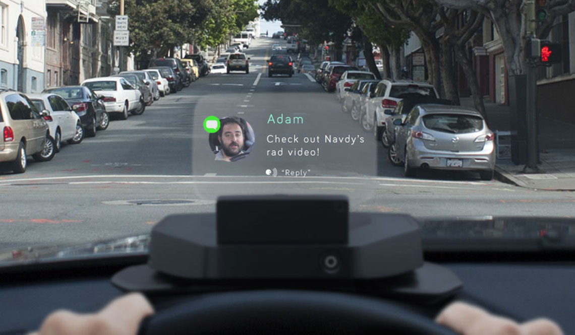 NAVDY PORTABLE HEADS-UP DISPLAY FOR YOUR PHONE