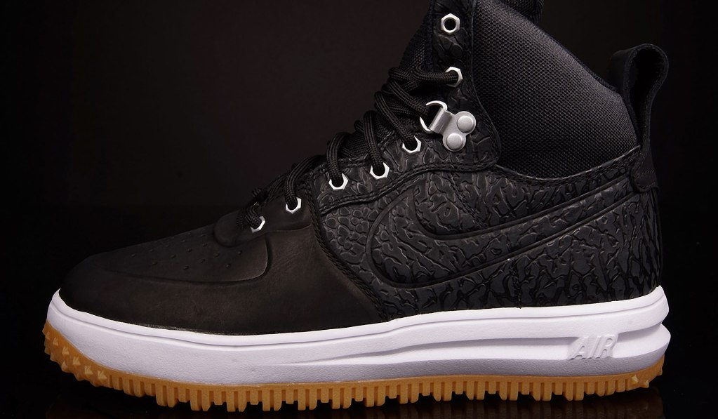 NIKE LUNAR FORCE 1 HIGH SNEAKERBOOT – BLACK ELEPHANT