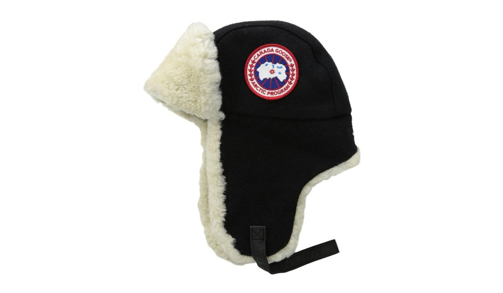 extreme cold weather gear - canada goose hat