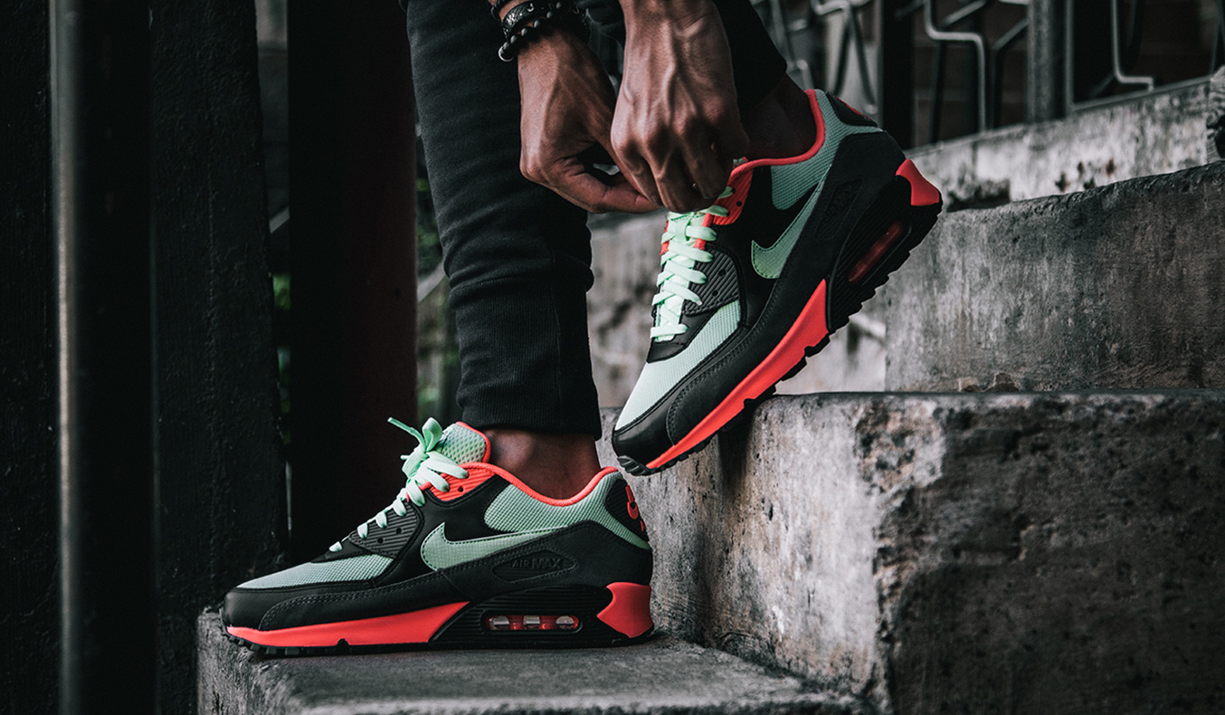 red air max 90 outfit