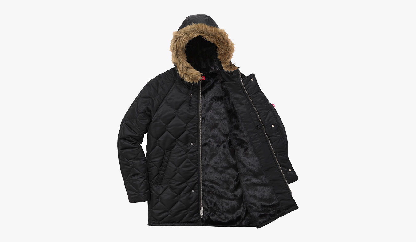 SUPREME QUILTED FLIGHT SATIN PARKA