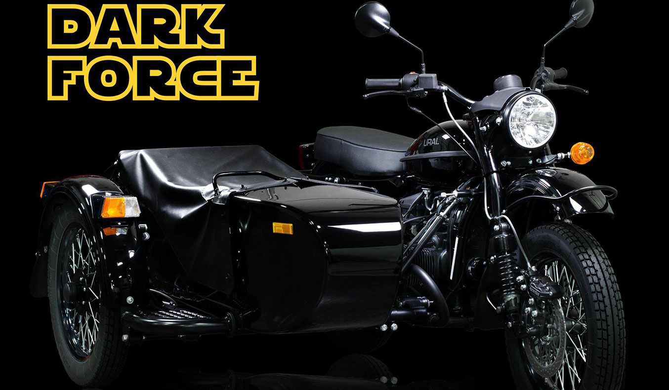 URAL LIMITED EDITION 'DARK FORCE' MOTORCYCLE LIGHTSABER INCLUDED