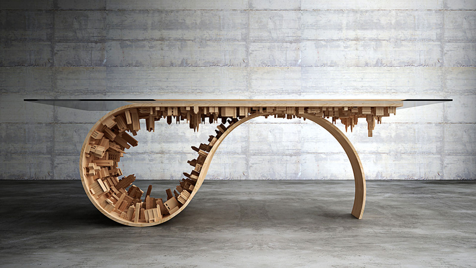 WAVE CITY DINING TABLE