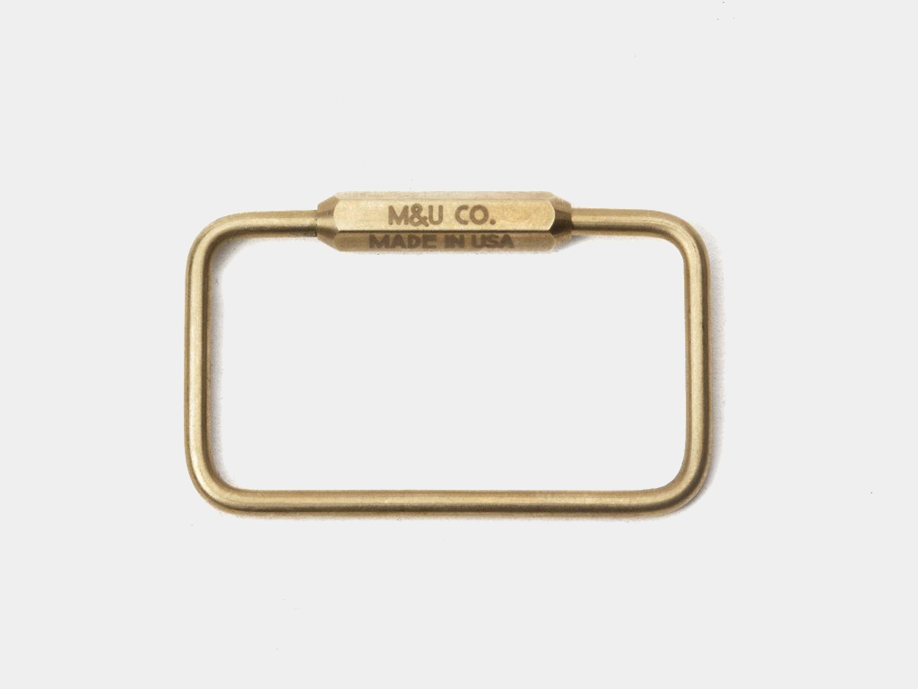 M&U Co. Rectangle Keyring