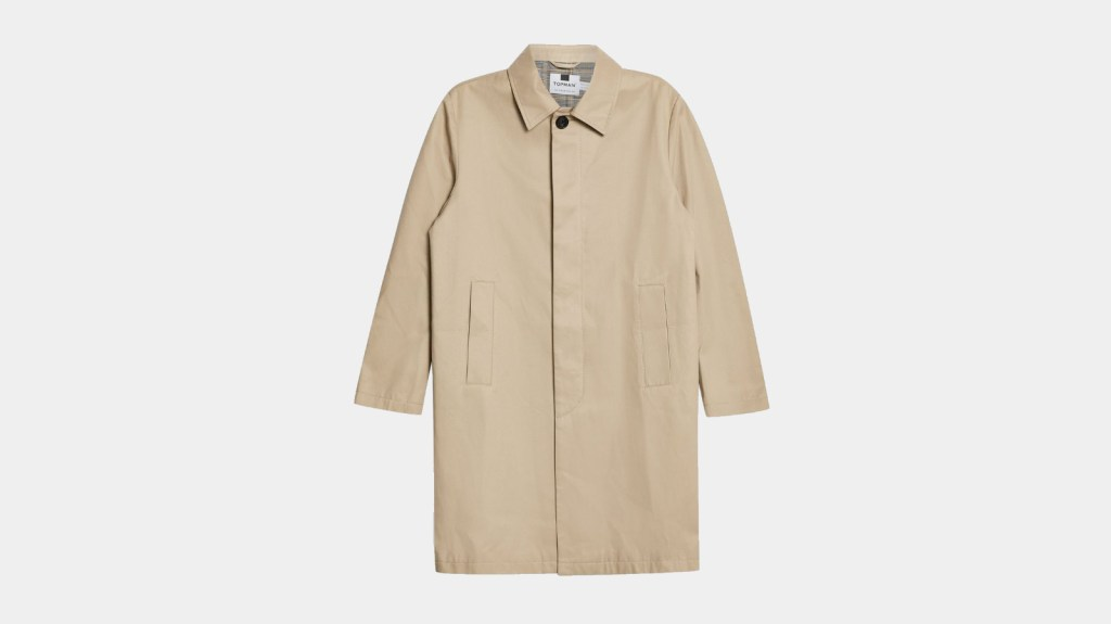 Topman Best Mens Trench Coat