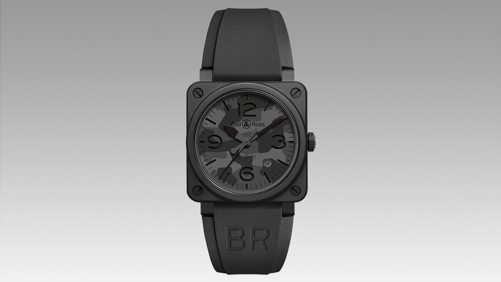 BELL & ROSS BR03-92 BLACK CAMO WATCH