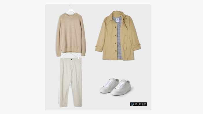 Men's Outfit Ideas #93: American Trench + Filippa K LT Beige