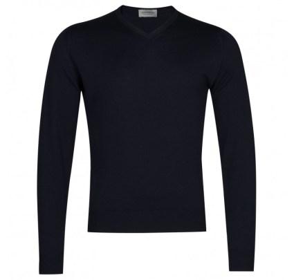 John Smedley V-Neck Sweaters-1