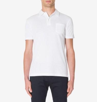 Sunspel Charcoal Jersey Polo Shirt-1