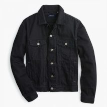 j crew Denim jacket in washed black