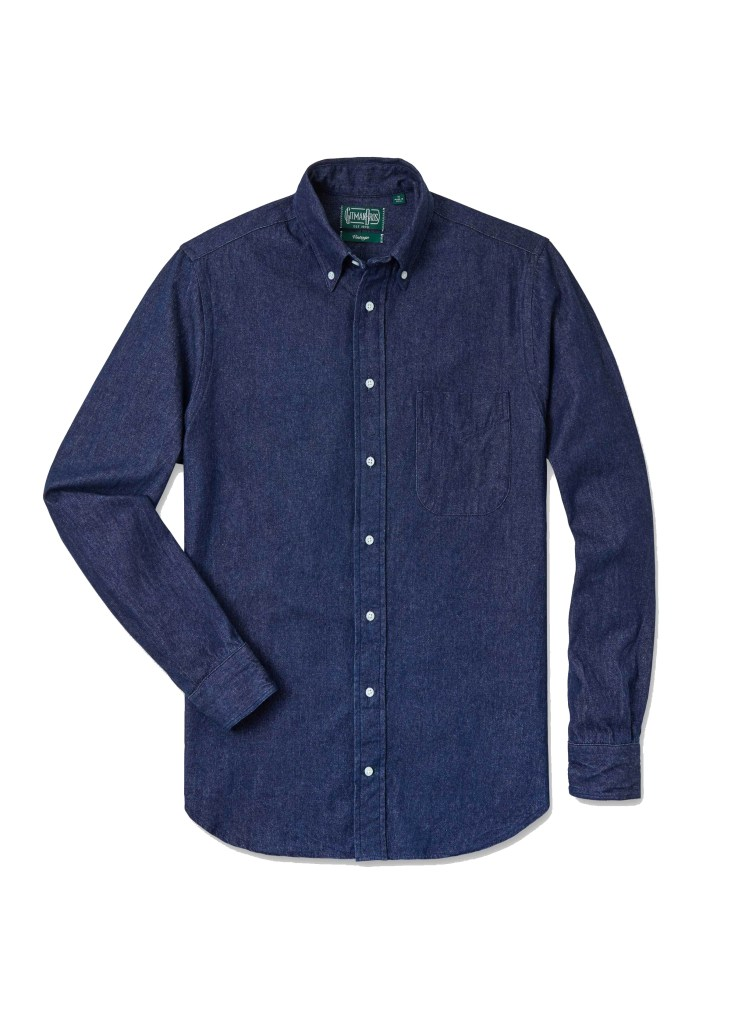 gitman vintage best denim shirts for men