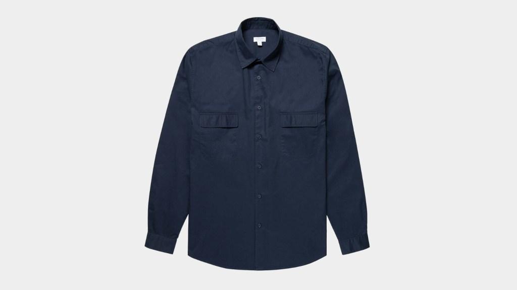 Sunspel Men's Cotton Twill Overshirts