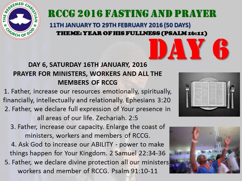 Rccgfast Day 36 Prayer Points Of Rccg 40 Days Prayer Fasting