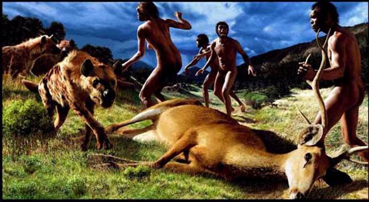 Ateşi de kontrol etmeyi ilk olarak başaran Homo erectustürü avlanırken; günümüzden 1.5 MYÖ...