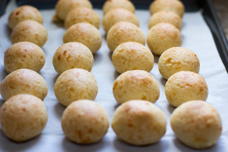 Bread rolls baked and out of the oven