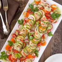 Lobster Salad with Green Goddess Dressing